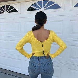 90734a31dc00 Tops   Lauras Boutique Yellow Knit Bodysuit Nwt   Poshmark